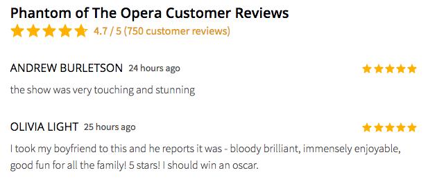 phantom of the opera review