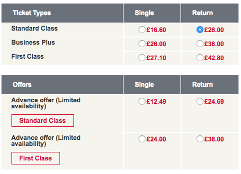 stansted express ticket price